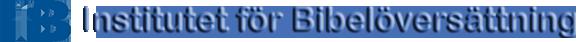 IFB – Institutet för Bibelöversättning